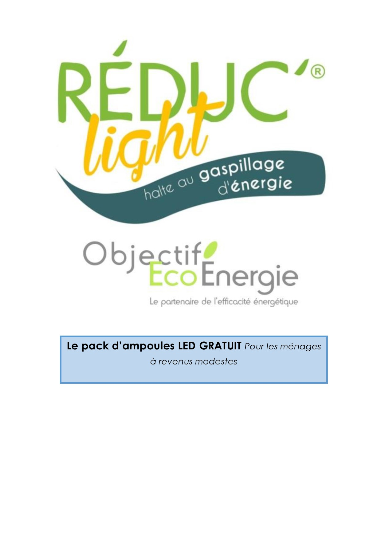 Programme Réduc'Energie : prolongation du délai d'inscription