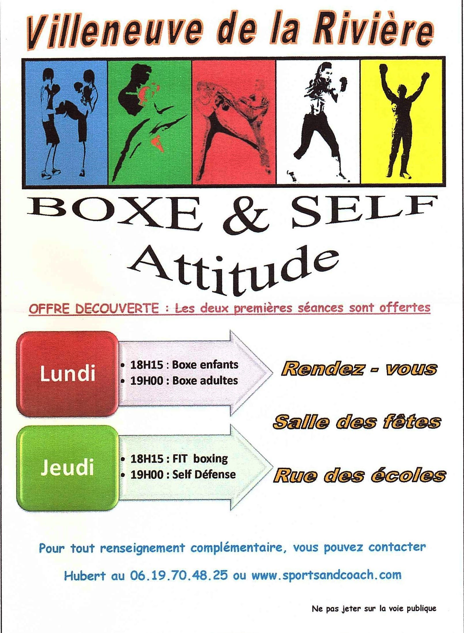 Boxe and Self Attitude : reprise des cours